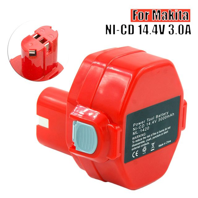 14.4V 3000mAh Ni-CD Power Tools Rechargeable Battery Pack for Makita Cordless Drill PA14 1433 JR140D 1420 6280D