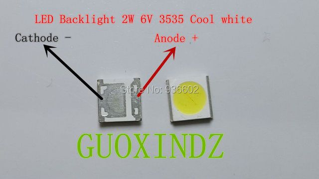 WOOREE  LED Backlight   2W  6V  3535  150LM   Cool white   WM35E2F-YR09B-eA   LCD Backlight for TV   TV Application
