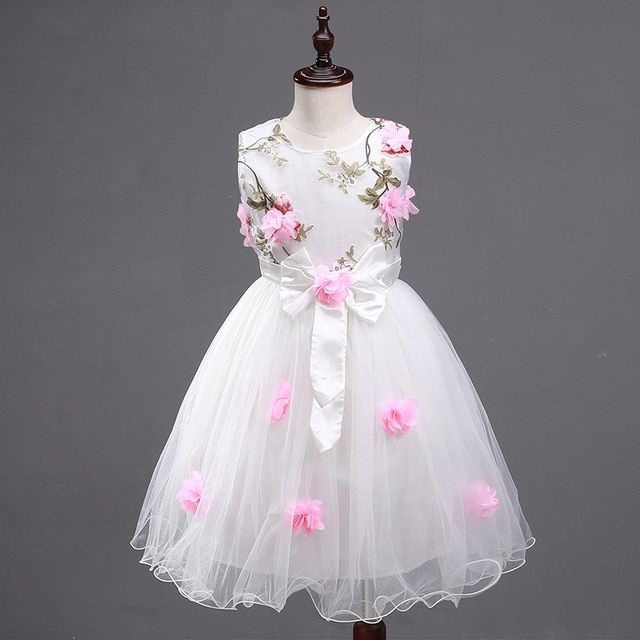 New  Girls Flower Girl Dresses Wedding  Birthday Party Kids Dress Bruidsmeisjes Jurk Kids Girl Dress 6WD 003