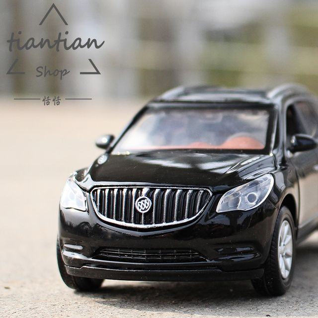 1:32 Buick Angore Alloy car model Realistic engine sound Back to power Sound and light Open the door Children's car toys