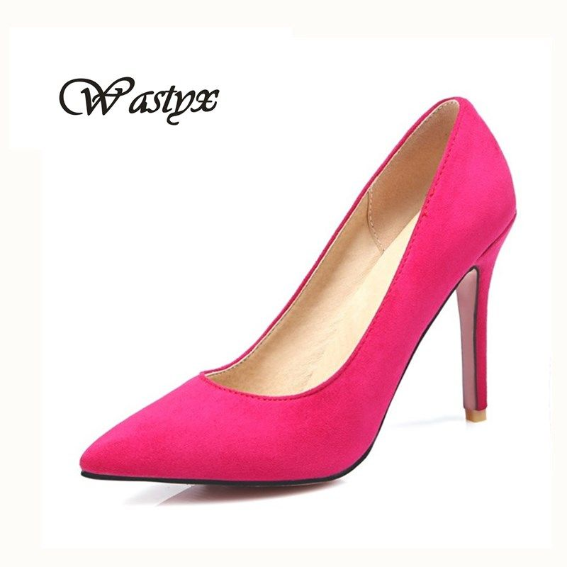 new Shoes Woman High Heels Pumps Red High Heels 10CM Women Shoes High Heels Wedding Shoes Pumps Black Nude Shoes Heel size34-4 7