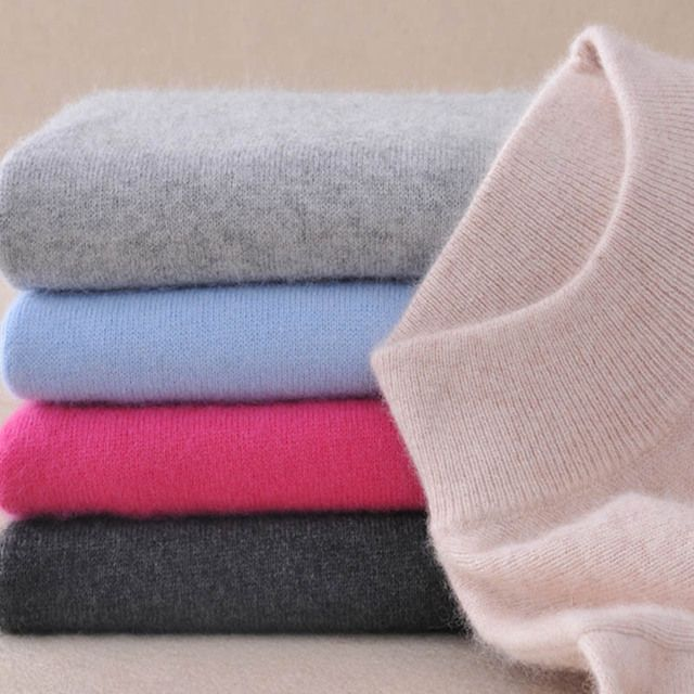 Women Half-height Collar Cashmere Sweater 2017 Winter Soft Comfortable Pullover Long Sleeve 11 Colors Women Cashmere Sweater