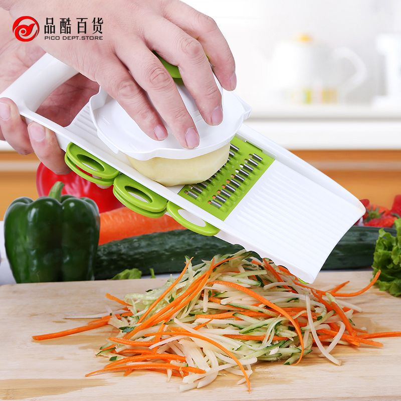 Vegetable Cutter Multifunctional Mandoline Slicer with 4 Interchangeable Stainless Steel Blades Peeler Slicer Grater cook tools