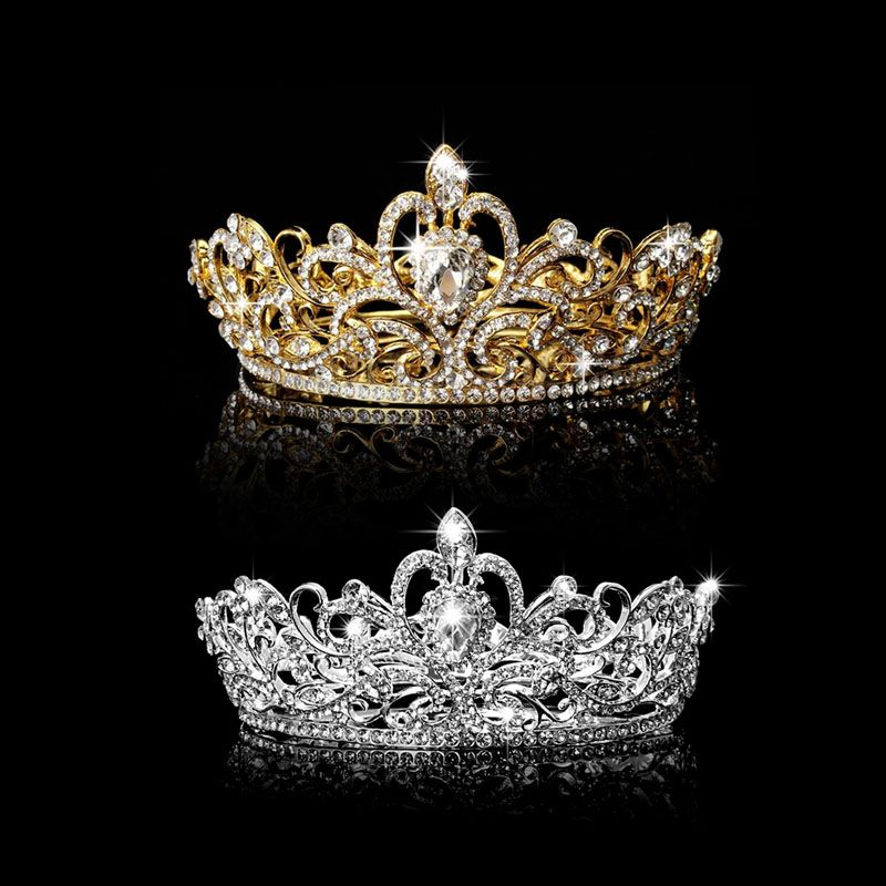 Hot Rhinestone King Crown Tiara Wedding Pageant Bridal Diamante Headpiece Jewelry