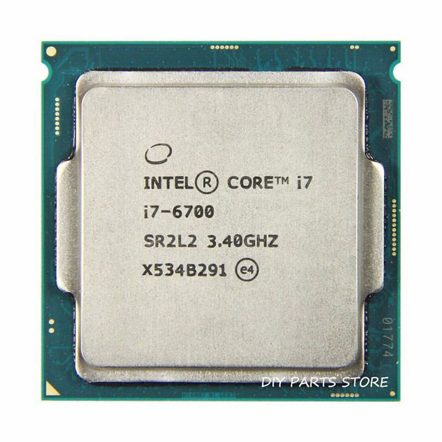 Intel core  Quad core I7-6700 intel I7 6700 processor LGA 1151  3.40GHz 6M RAM DDR3L-1333, DDR3L-1600 DDR4 GPU HD530
