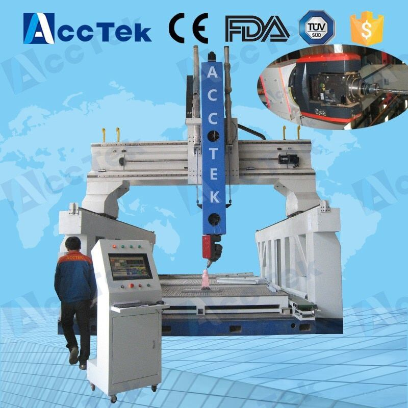 italy hsd spindle cnc woodworking machinery, 5 axis cnc cutting machine 6040, 5 axis wood carving cnc router