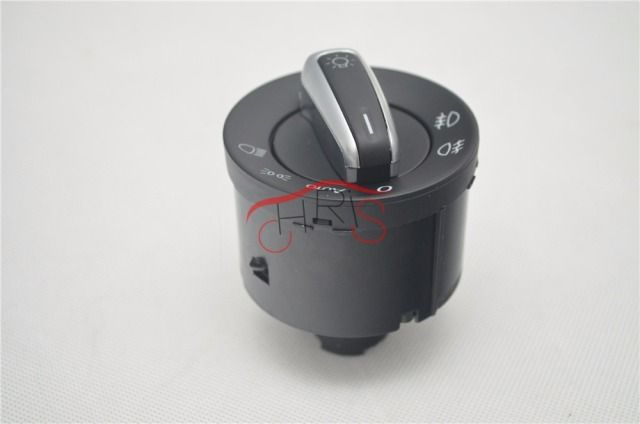 5ND941431 Chrome European Headlight Control Switch For VW Jetta 5 6 Golf 5 6 GTI Mk5 Mk6 Passat B6 Tiguan Touran  XSH