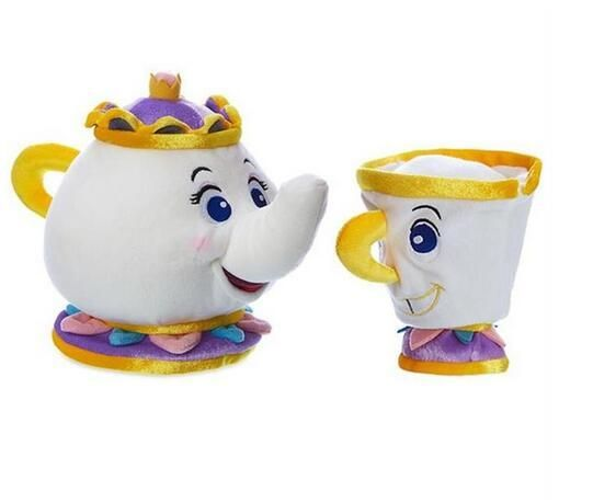 TAQUA movie the beauty and the beast belle toy magic teapot and the magic teacup children gift 1pcs