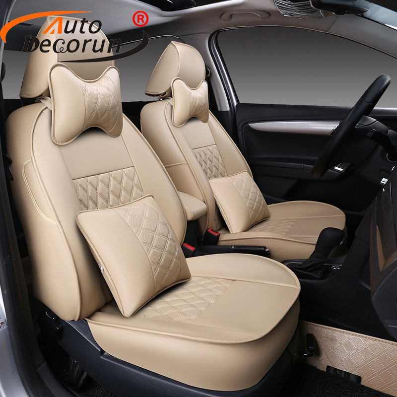 AutoDecorun seat cushion car for Kia Carens seat covers for carens 2013 2014 2015 PU leather car seat supports auto accessories