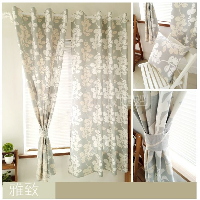 Nordic fresh children bedroom window curtain active printing thick cotton 100% curtains for living room