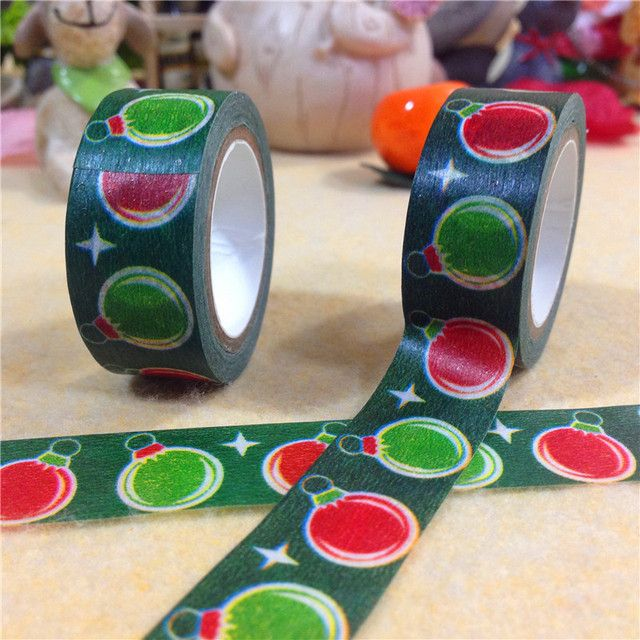 2016 Japanese Washi Tape Tape New Arrival Masking Rushed Adesivo Stickers Scrapbooking Lantern And Paper 1.5cm*10m Christmas Lc