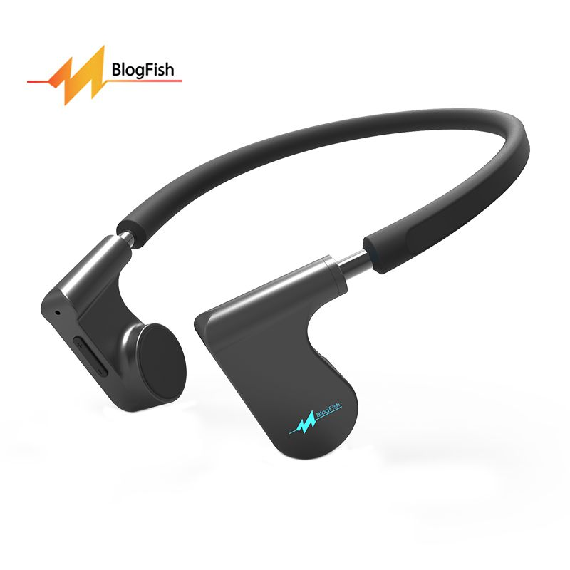 Bone Conduction Headphones Open-ear Wireless Bluetooth Headset Sweatproof Sport Stereo Earphones With Mic For Running Gym Black