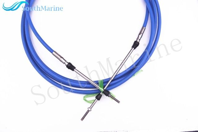 ABA-CABLE-13-GY Remote Control Throttle Shift Cable 13ft for Yamaha Outboard Motor Steering System 3.96m Blue