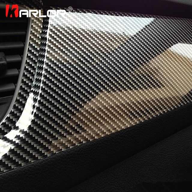 152cm*10cm High Glossy 5D Carbon Fiber Wrapping Vinyl Film Motorcycle Tablet Stickers And Decals Auto Accessories Car Styling