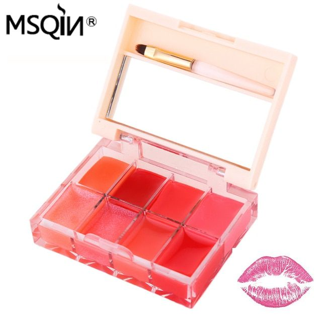 2016 New Soybean Milk Moisturizer 8 Colors Combination Lip Gloss Matte Lips Palette Dilute The Lip Long-lasting Makeup Lipstick