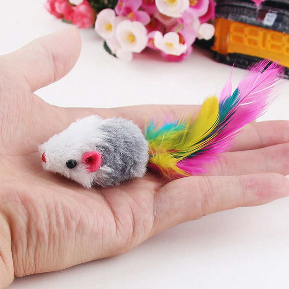New 5pcs/lot Funny False Mouse Rat Toys for Cat Kitten Pet Colorful Plush Mini Mouse Toys Pets Cat Playing Toy Drop Shipping