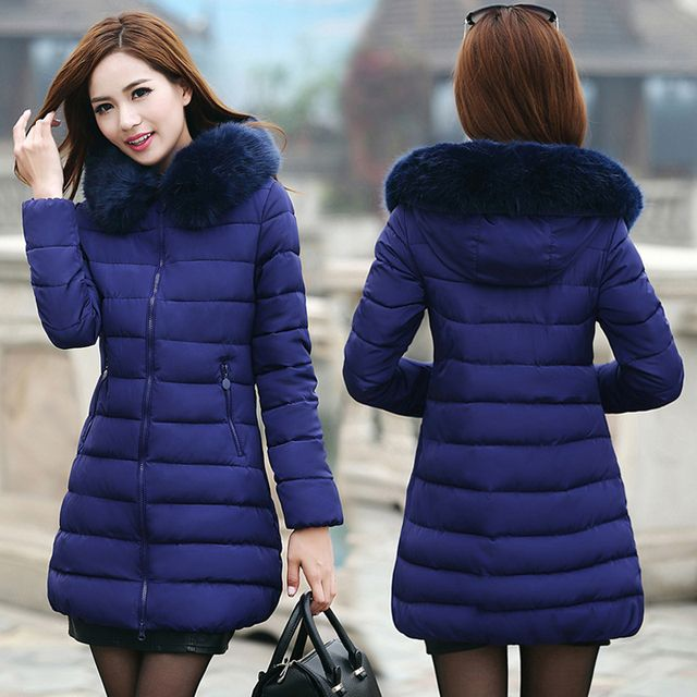 Women's Winter Jackets 2017 Thick Warm Hooded Cotton And Coats  Padded  For Women's Winter Jacket Female Manteau Femme CC315