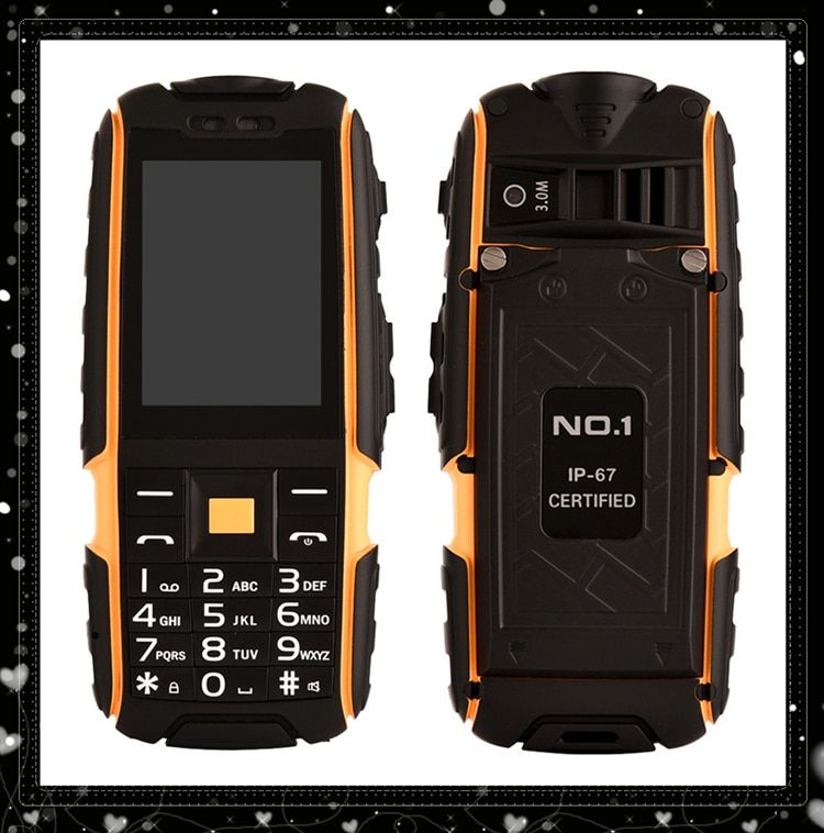 "2016 Outdoor Waterproof phone NO.1 A9  Mobile Phone 4800mAh 2.4 "" Cell phone NO.1 A9 Shockproof Christmas phone Dual SIM card"