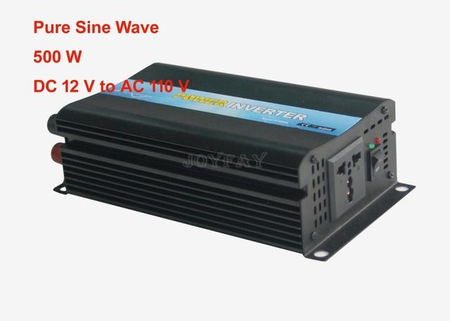 High Quality 500W Pure Sine Wave DC 12V to AC 110V Power Inverter