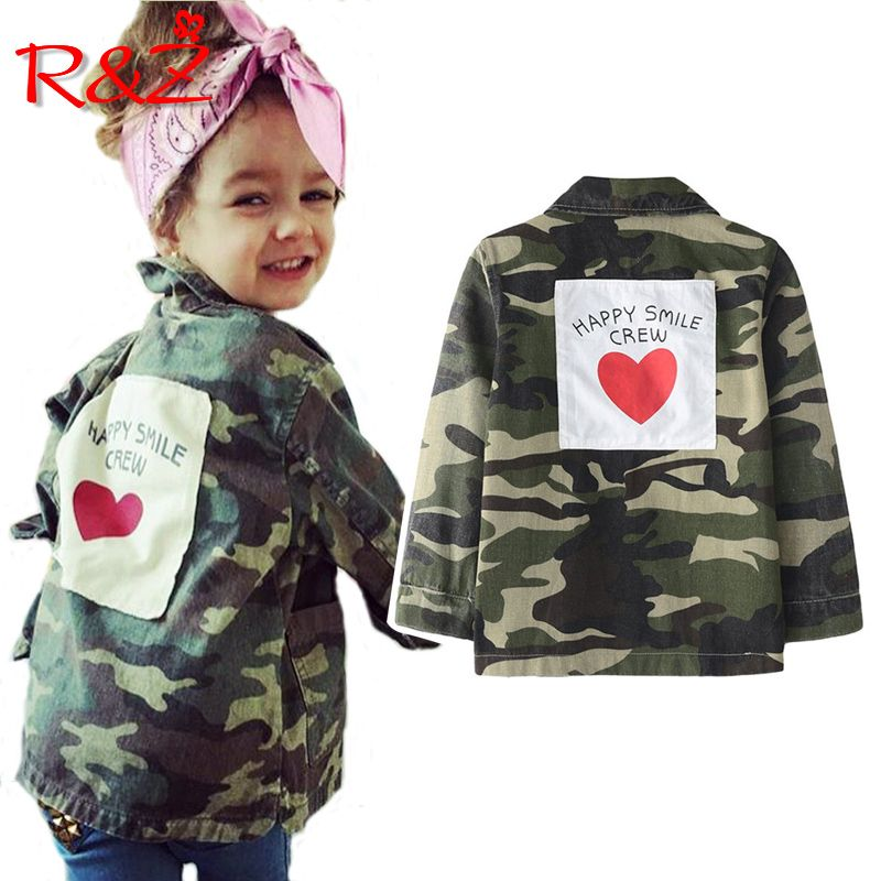 R&Z children's jacket 2019 spring and autumn new boys and girls camouflage windbreaker baby casual jacket children's jacket