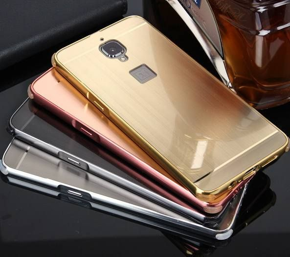 Luxury Original Ultra thin metal frame with Brushed plastic back case cover For One plus 3 Oneplus 3 Oneplus3