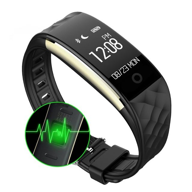 GZDL Bluetooth Smart Wristband Heart Rate Monitor IP67 Waterproof Pedometer Activity Fitness Tracker Bracelet Android IOS WT8109