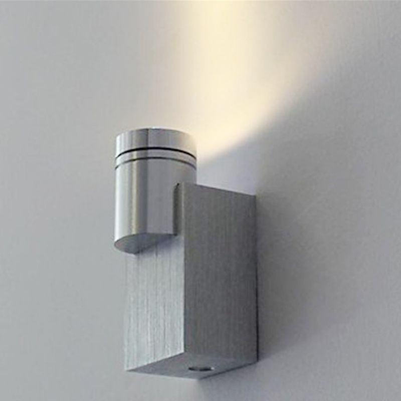 1W LED Silver Sconce Modern Grace Wall Lamp Indoor Decoration Wall-Fixture Light with Aluminum Applicable for Porch Living Room
