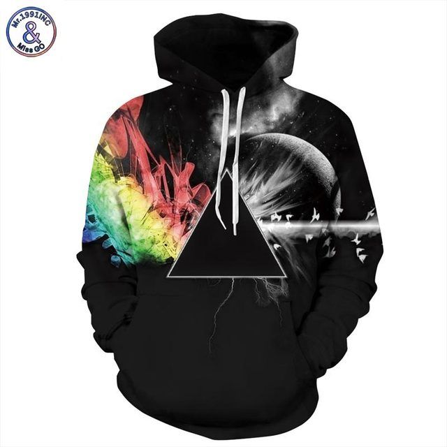 Mr.1991INC Brand Sweatshirts Men/women 3d Sweatshirts Print Sunlight Refraction Rainbow Hooded Hoodies Pullover Tops Hoody