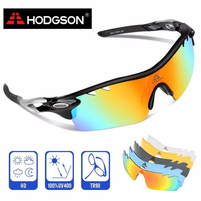 8004 HODGSON Brand New Designed Anti-fog Cycling Glasses Sports Eyewear Bicycle Goggles Bike Sunglasses with 2 Polarized Lenses