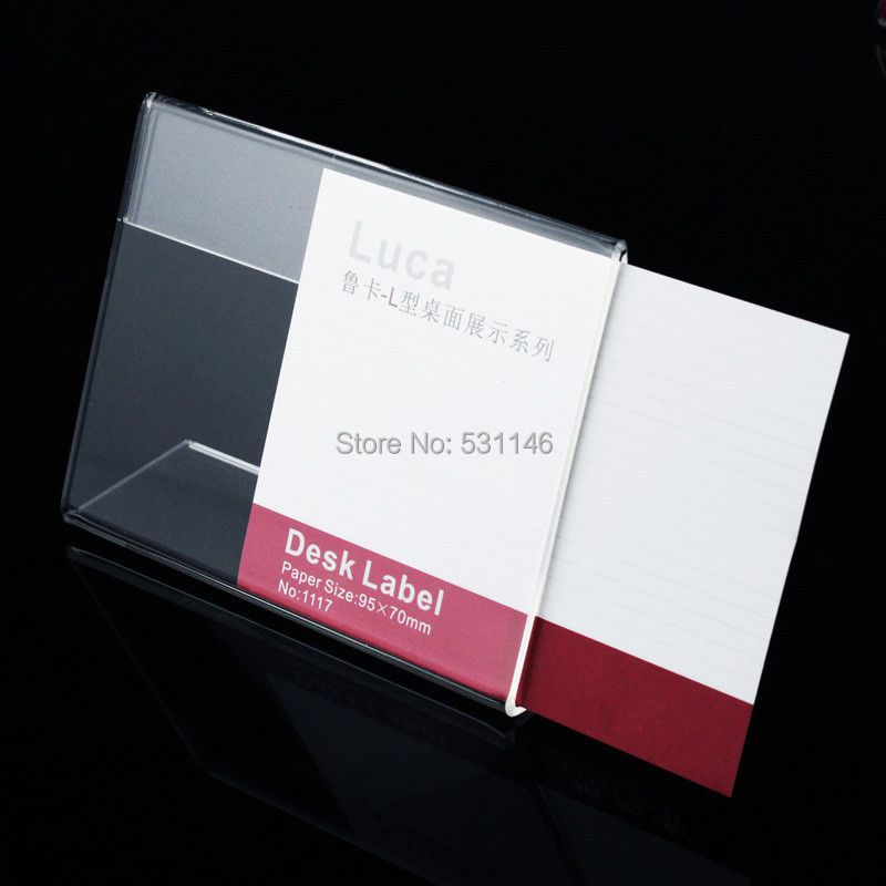 100pcs  Product parameters advertisng Poster price tag Display board Table Card Clear Acrylic