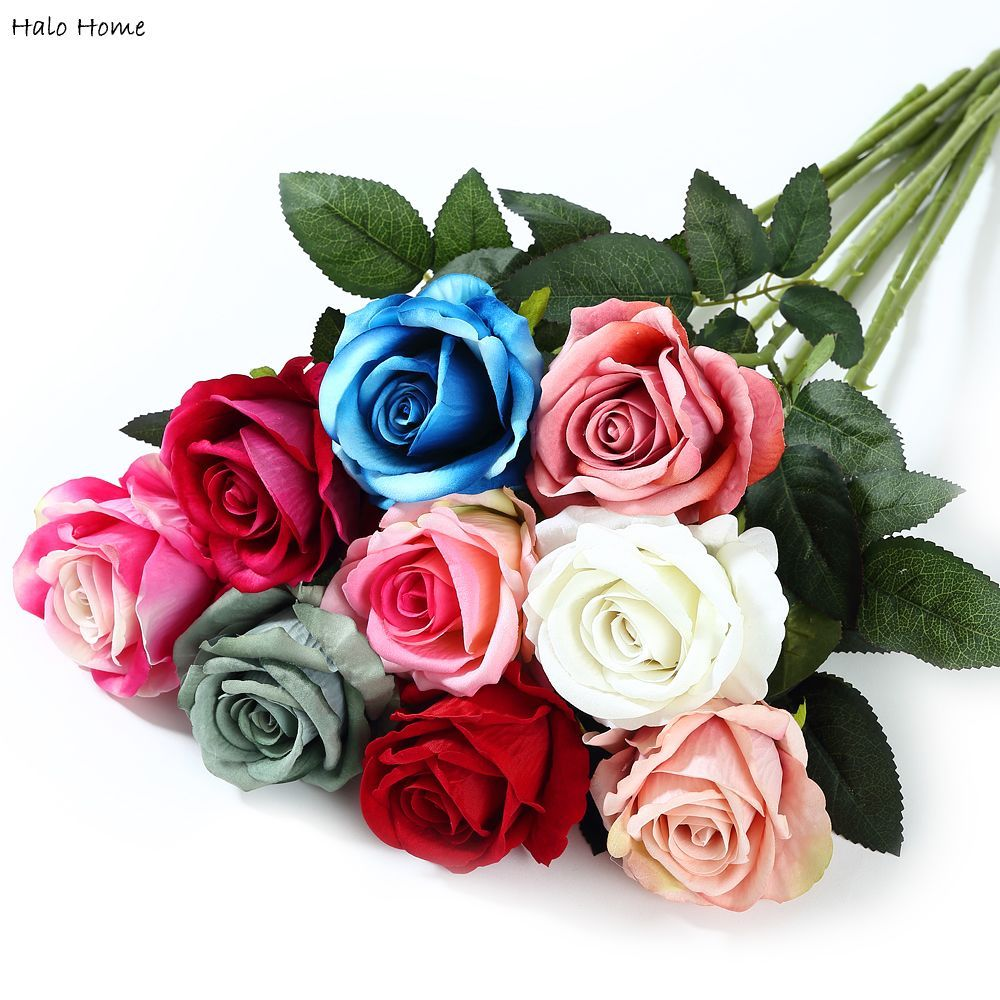 1 Piece Artificial Flower Rose fit Decoration Party Home Wedding Garden