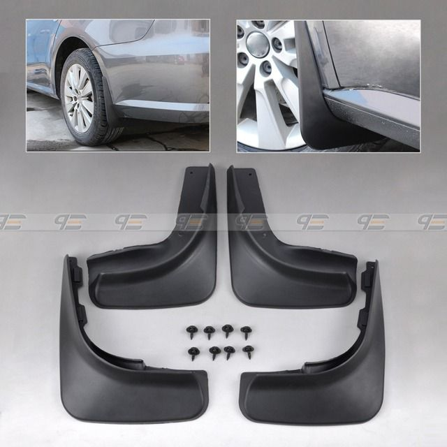 DWCX Cool Mud Flap Flaps Splash Guards Mudguard Mudflaps Fenders For 2009 2010 2011 2012 VW Golf 6 MK6 Hatchback Black 4Pcs Set