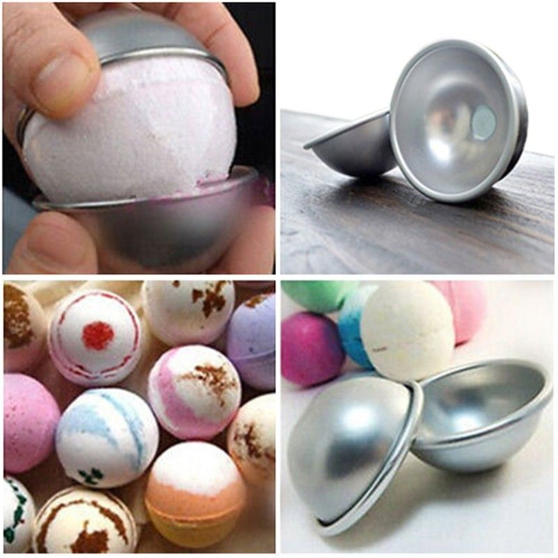 2000pcs Hot 3D Aluminum Ball Sphere Cake Pan Tin DIY Baking Pastry Ball Mold Tools Mould Kitchen Molds Bath Bomb Bakeware ZA0567