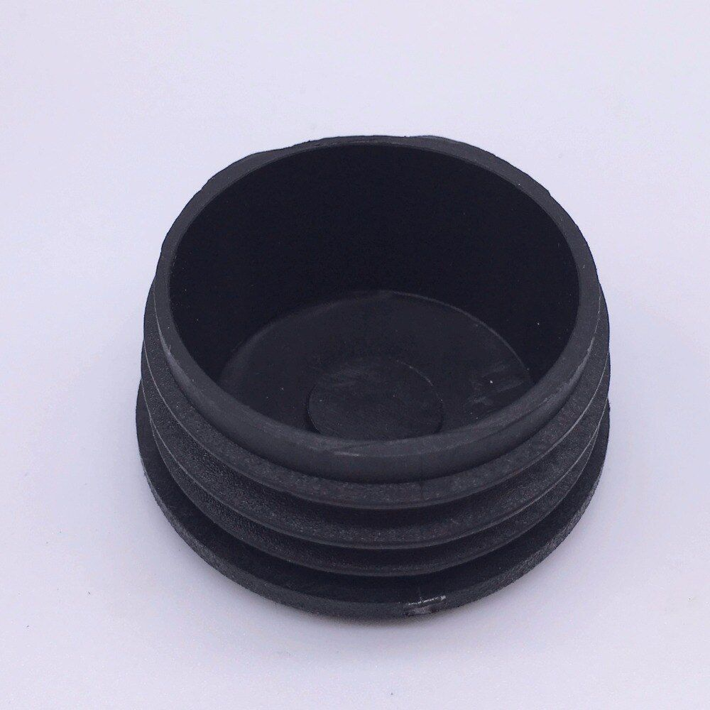 60mm Plastic Feet Plug for Pipe Black Pack 50