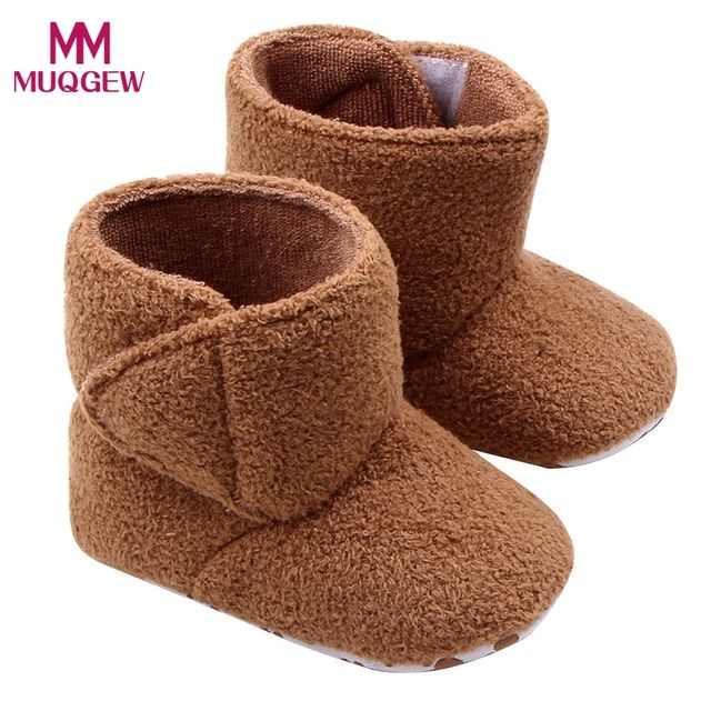 New Arrival Soccer shoes with ankle Winter Baby Boots Fashion Infant Winter Boots Baby Coral Fleece Soft Sole Warm Shoes Boots