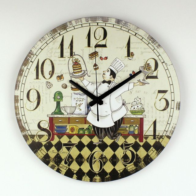 kitchen Wall Clock Modern Design Warranty 3 Years Cartoon Dining Hall Wall Decoration Watch Clock With Silent Clock Movement