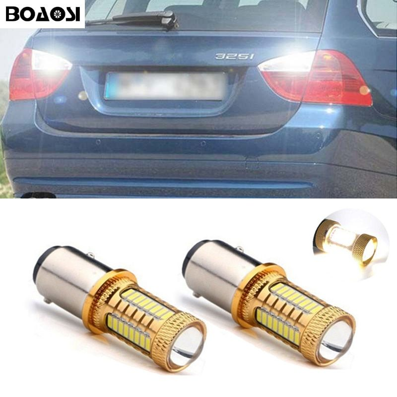 BOAOSI 2x LED Backup Reverse Light Bulbs 1156 p21w 4014 CREE Chip For BMW 3/5 SERIES E30 E36 E46 E34 X3 X5 E53 E70 Z3 Z4