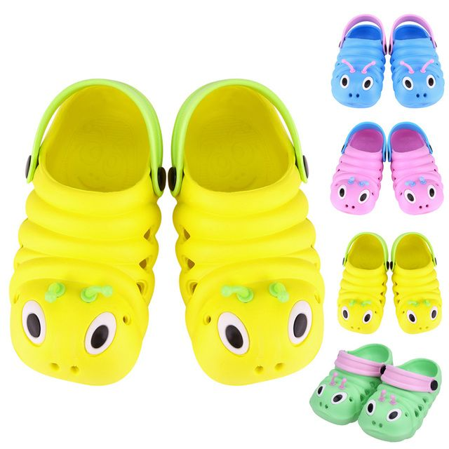 2018 Baby Sandals Summer Caterpillar Anmial Cartoon Style Children Beach Shoes for 0 to 6 Months Babies