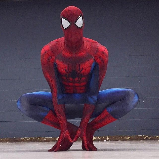 Movie Coser High Quality Custom Made Amazing Spider Man Cosplay Zentai Costume Amazing Spiderman Costume for Men