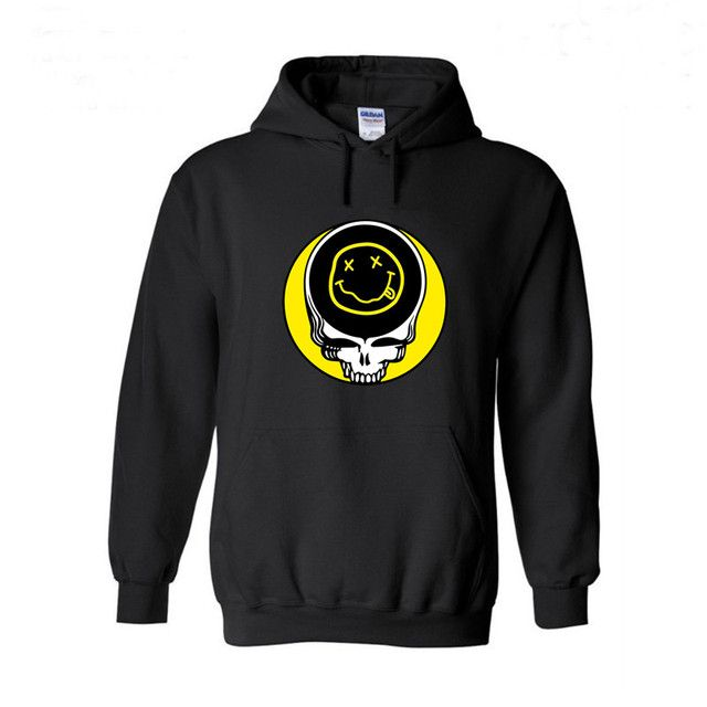 Hoodie Men and Womens Steal Your Face Nirvana 3d Printed Hooded Sweatshirts Mens Fashion Pullovers Tops 2016 2017