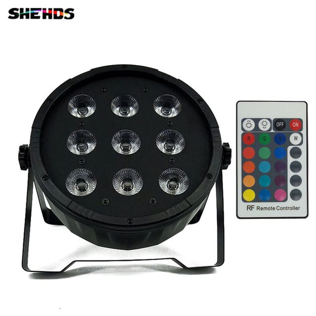 Wireless remote control LED Par CREE 9x12W 4in1 RGBW Led Stage Light LED Flat SlimPar Quad Can With DMX512 Flat DJ