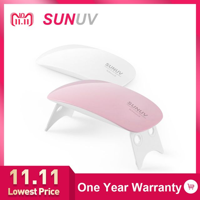 SUNUV SUNmini2 UV LED Lamp Mini Portable Nail Dryer With USB Cable Gel Nail Polish Dryer Gift Home Travel Use