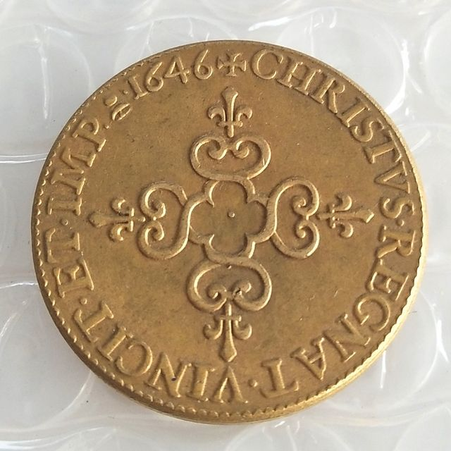 France - Louis XIV  - Ecu d,or frappe au marteau - 1646 Copy coins