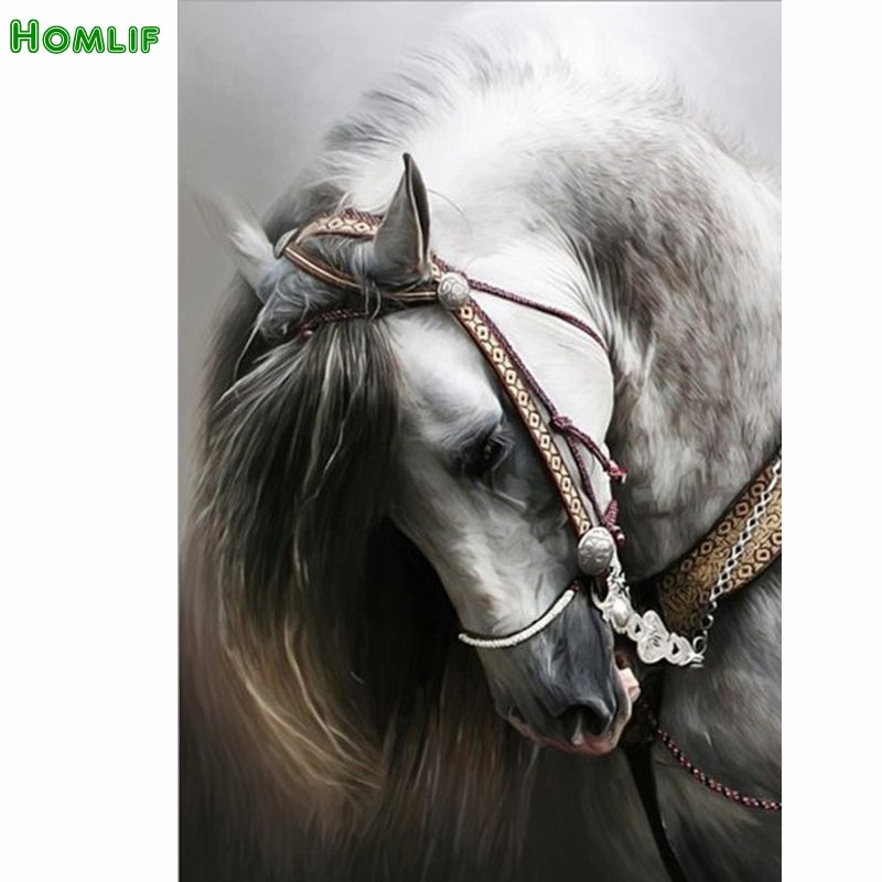 Diamond embroidery animal 5D diamond cross stitch crystal full diamond sets unfinish decorative Diy Diamond painting horse