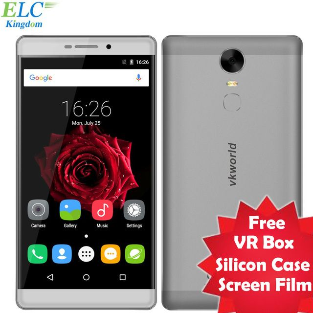 Vkworld T1 Plus 6 inch 4G Smartphone Android 6.0 MTK6735 Quad Core 2GB+16GB 1280x720 13MP 4300mAh OTG Fast Charging Fingerprint