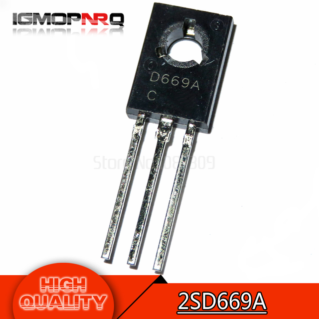 10pcs free shipping 2SD669A D669A D669 TO-126  amplifier for 1.5A 160V PNP new original