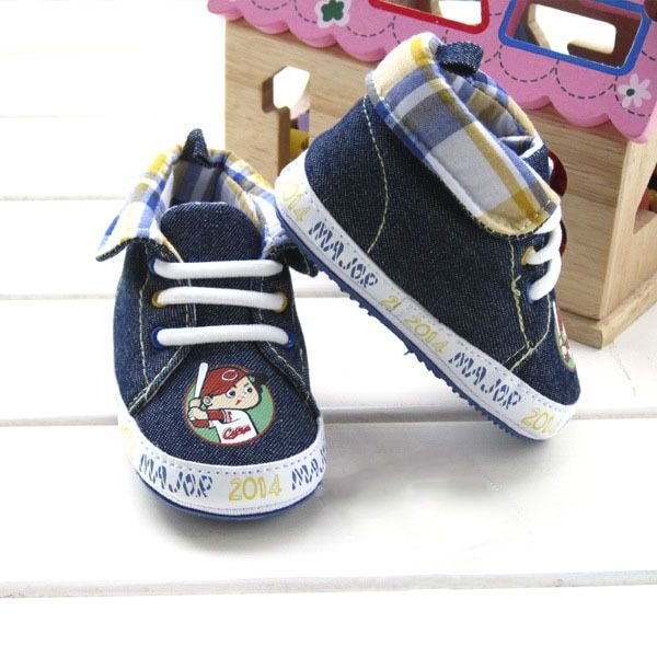 Special Price Fall Original Cool Plaid Collar Soft Toddler Baby Boy Shoes Denim Cool BB Good Quality Frist Walker Lowest  Price