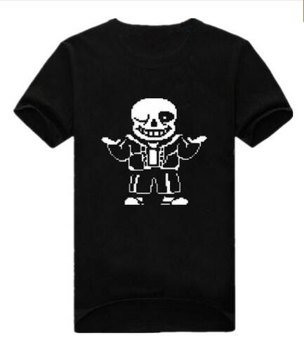 Free shipping Undertale interesting cartoon leisure cotton short sleeve T-shirt euro size O neck t-shirts wholesale crime