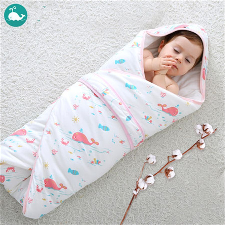 Baby Swaddling Blankets Newborn Infant Wrap Envelope For Newborns Thick Soft Warm Autumn Winter Baby Blankets Cotton 705040