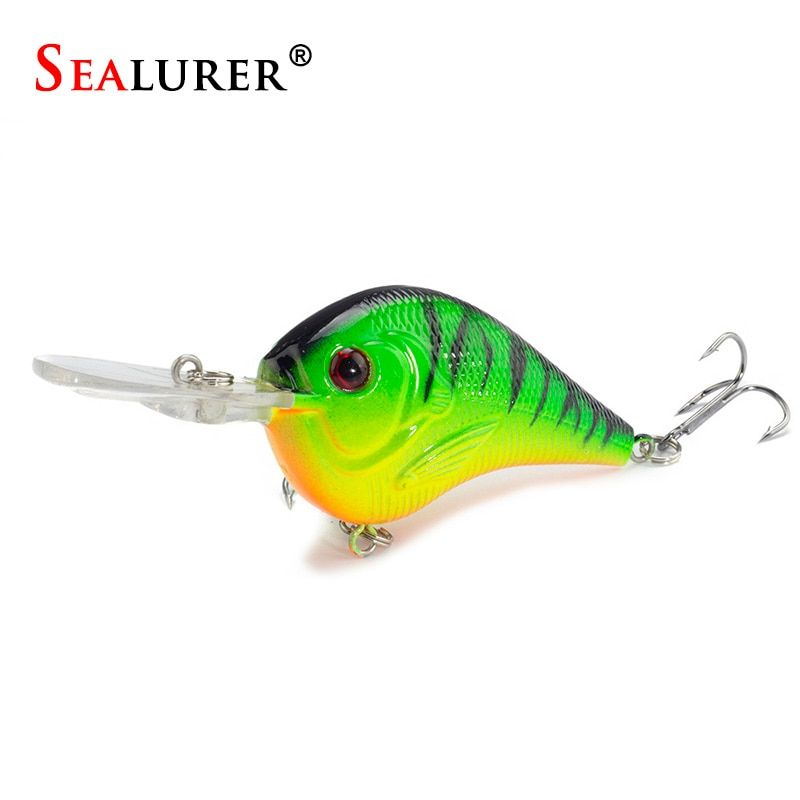 SEALURER  Fishing Lure Carp Fishing Bait 9.5cm11g Crank Bait  Artificial Hard Bait with 2 Treble Hook Crankbait